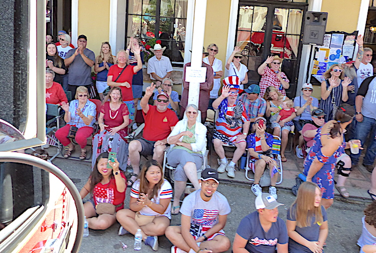 Mokelumne Hill parade attendees showed a lot of love for their firefighters.