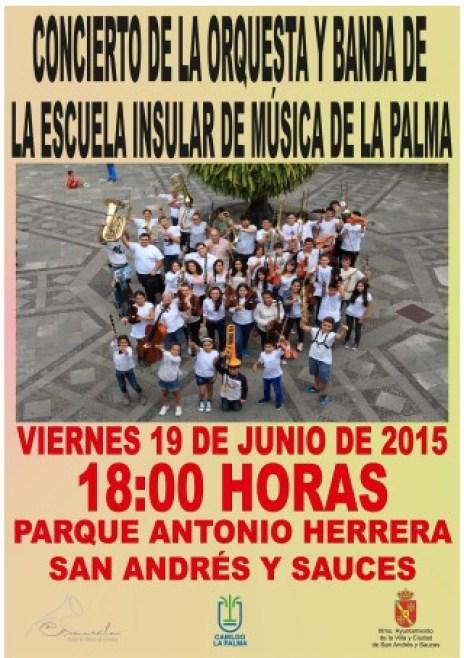 Cartel Concierto Orquesta y Banda