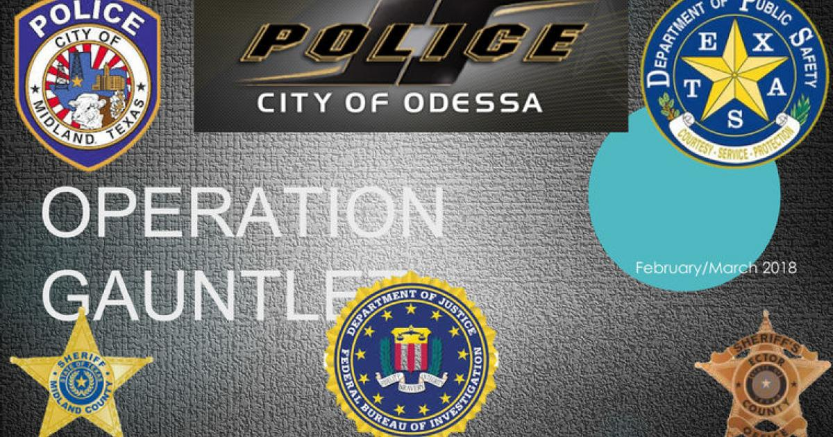Odessa Police Department Felony Arrests April 15 - Year of