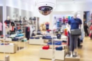 CCTV security camera shopping mall