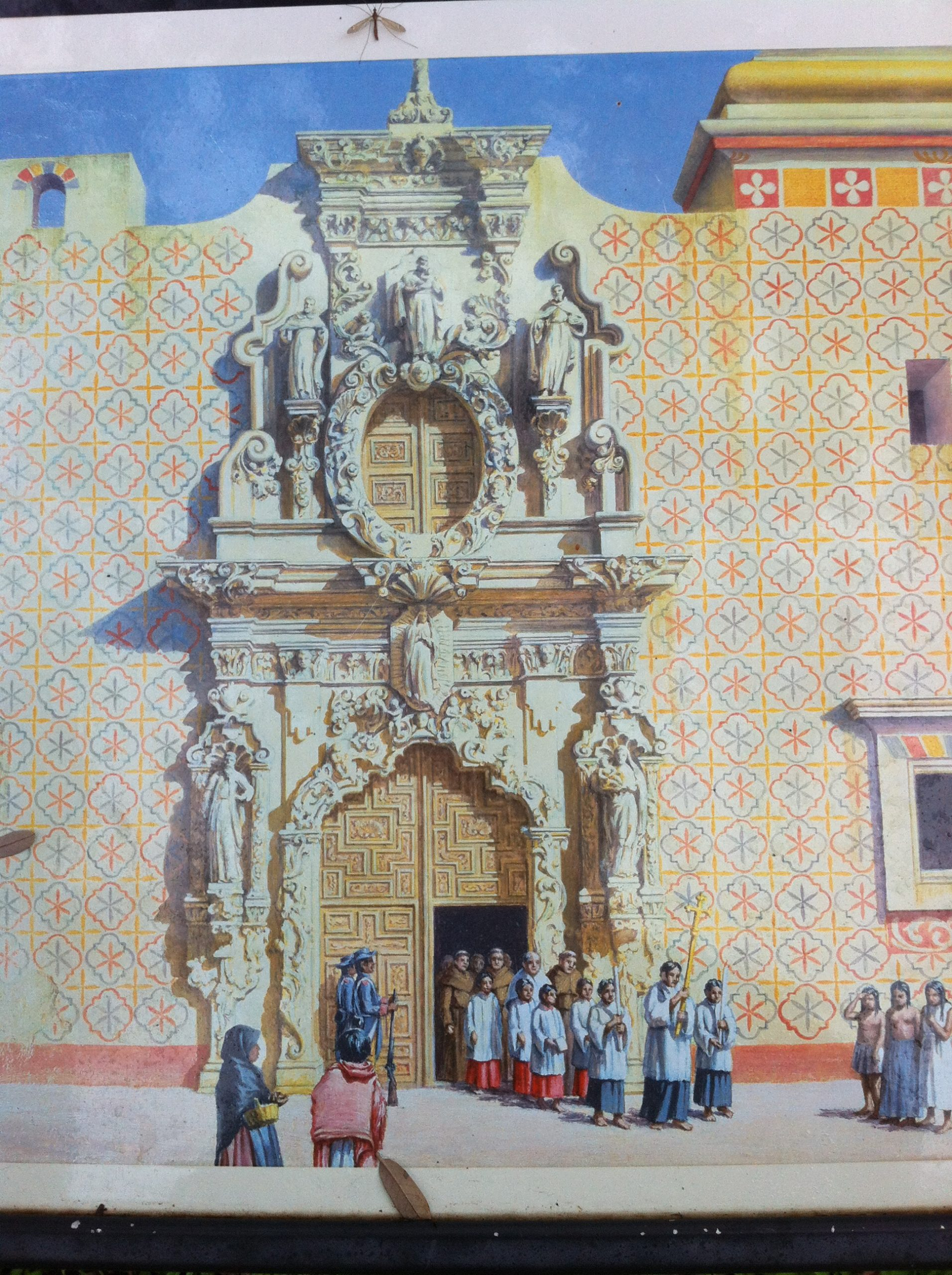 Artist's rendering of Mission San Jose.