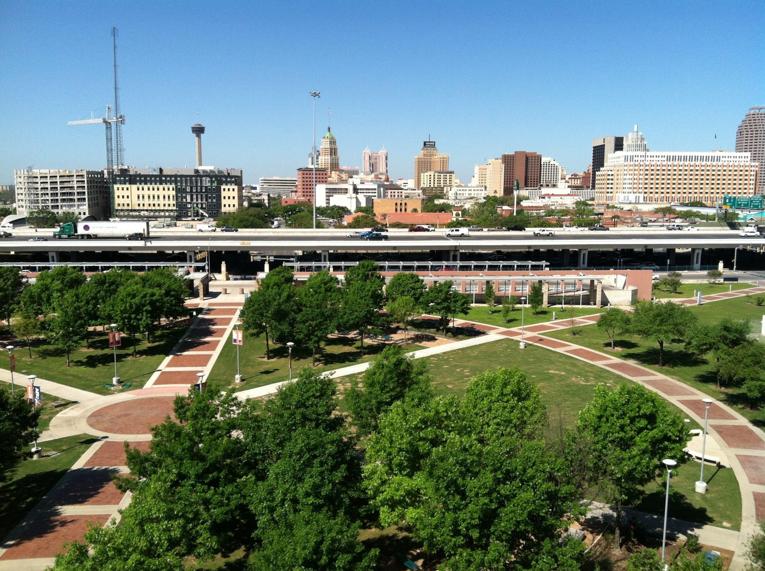 San Antonio as seen from UTSA's Downtown campus. (Photo by Thomas Tunstall)