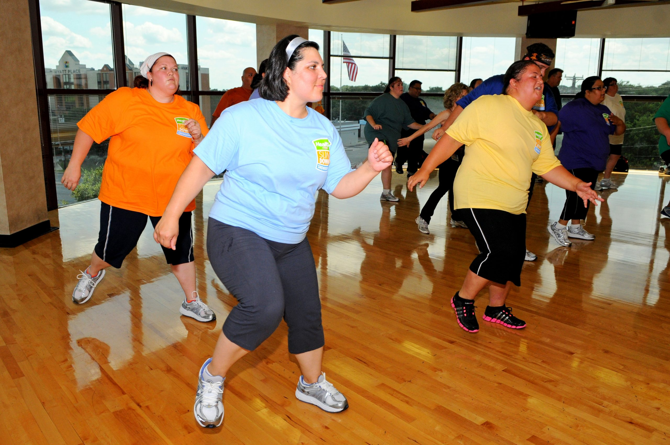 Portland contestant Nadia Rivas of Portland gets down at a Zumba class at Gold's Gym.
