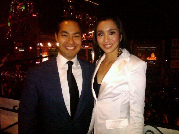 Mayor Julián Castro with his wife, Erica.