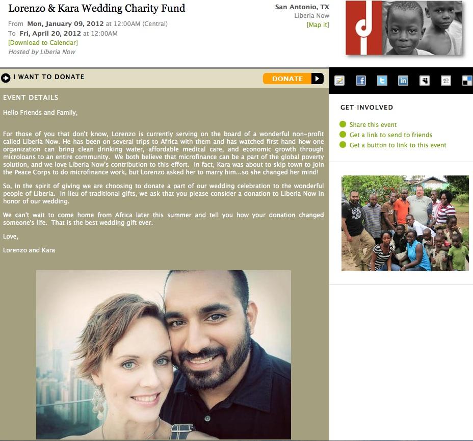 Give Wedding Page