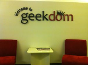 A day doesn't go by without a VIP happening by, requesting a tour of Geekdom.