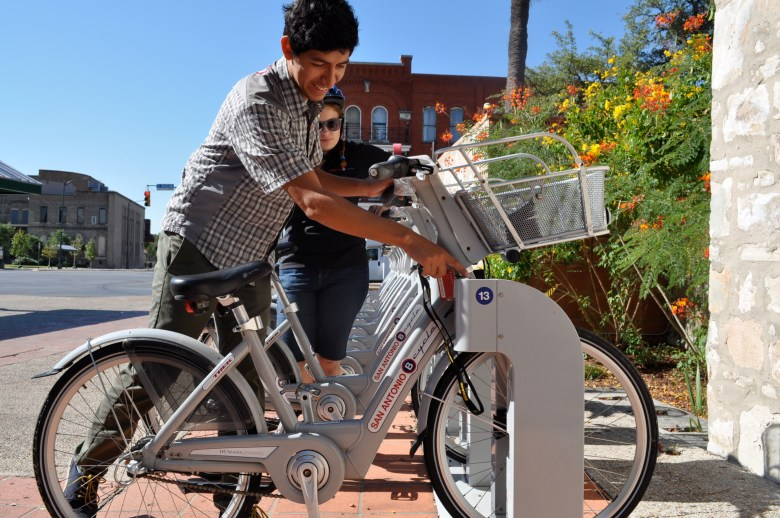 South Alamo B cycle station