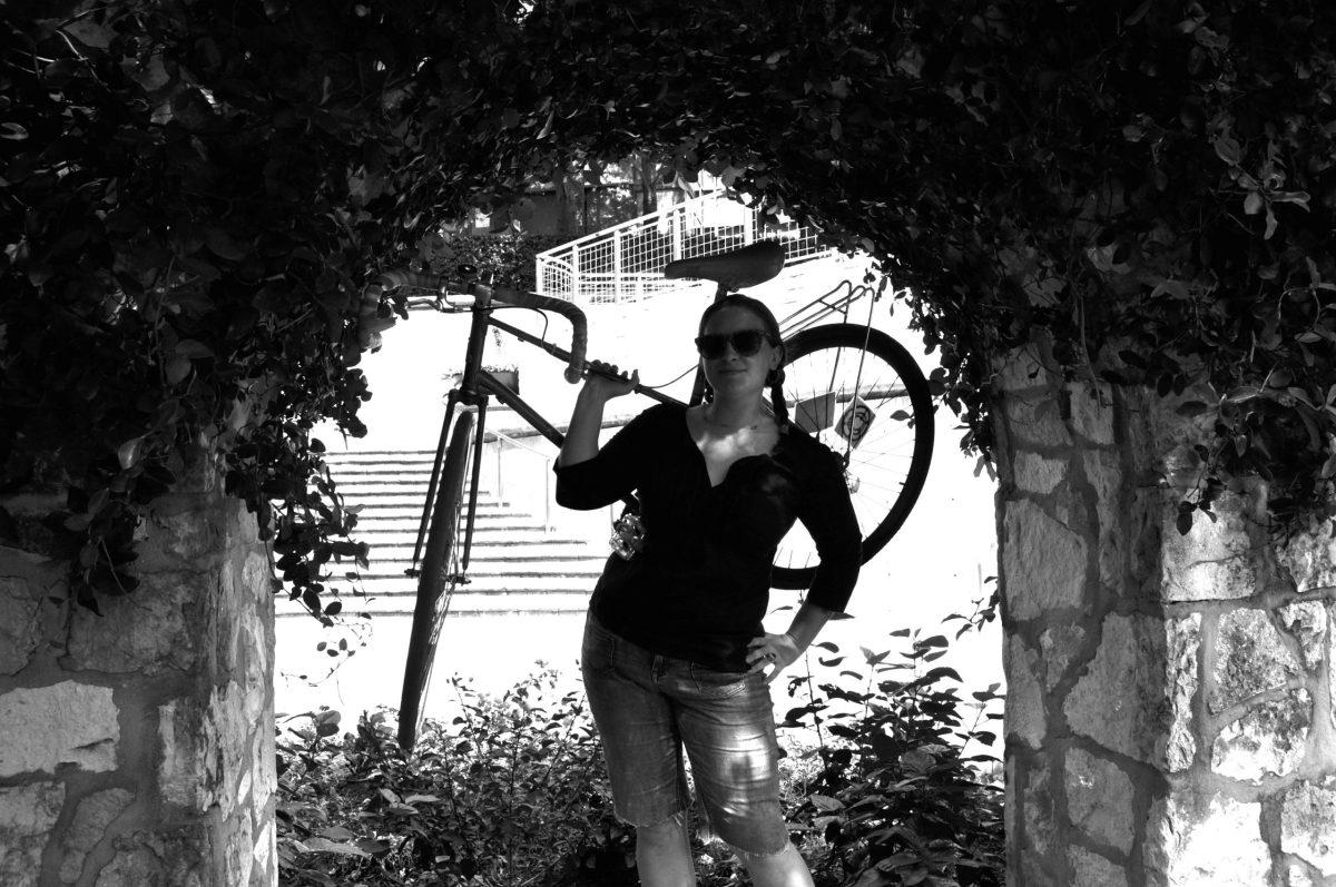 Gem Abrahamsen and bike