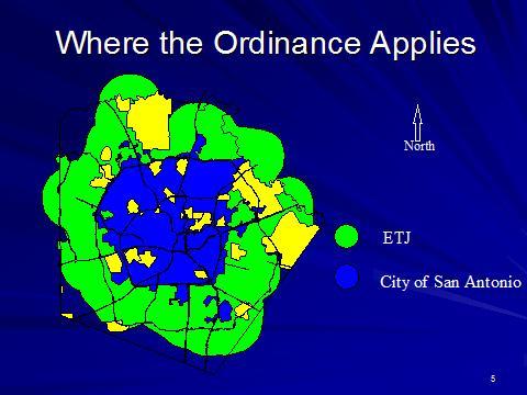 San Antonio's ETJ, Extra Terrestrial Jurisdiction