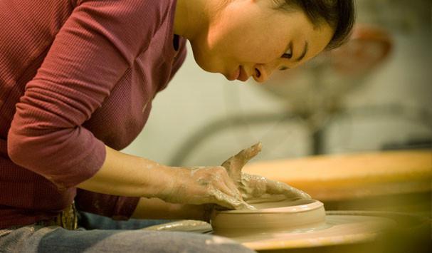 Southwest School of Art student - pottery