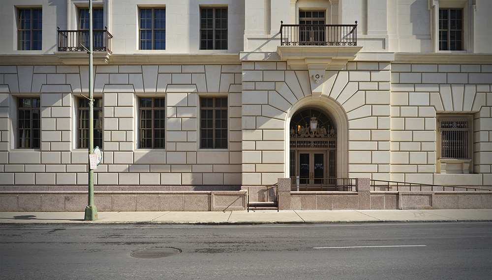 Hipolito F. Garcia Federal Building and U.S. Courthouse. Photo by Brantley Hightower.