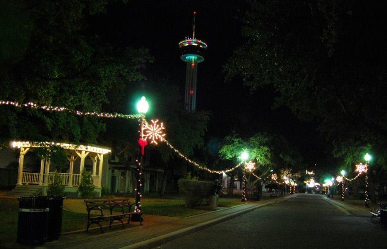 Hemisfair Holiday Lights
