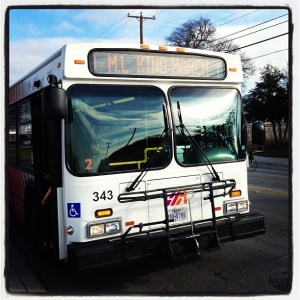 VIA Bus on Martin Luther King, Jr. Day March.
