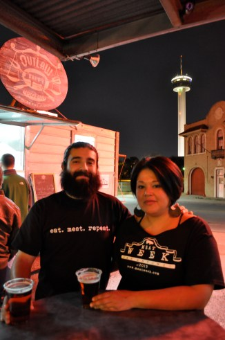 Meat Week organizers and The Point Park & Eats co-owners Noel Cisneros and Denise Aguirre.