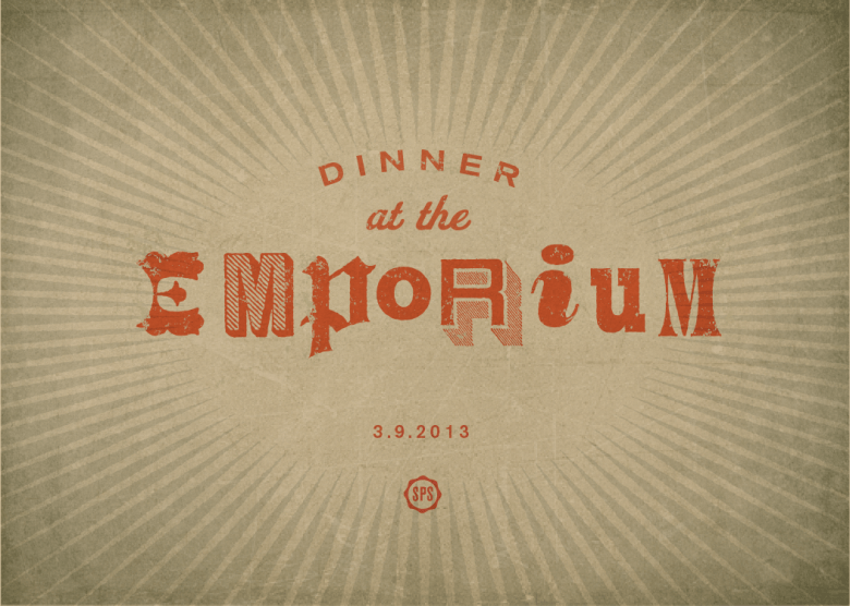 Special Projects Social's Dinner at the Emporium.