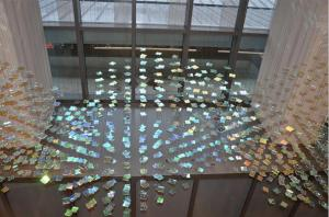 Cathy Cunningham-Little's installation in the University Health Center Downtown Clinical Services Building.