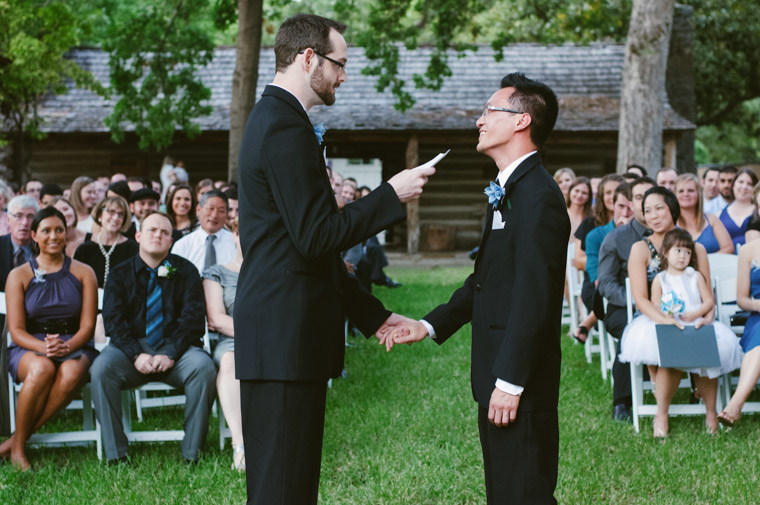 Reece and Vinh wrote their own vows and celebrated with friends. Photo by Christine Sargologos.