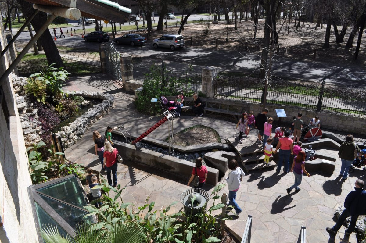 The H-E-B Science Treehouse's outdoor water exhibits at the Witte Museum. Photo by Iris Dimmick.