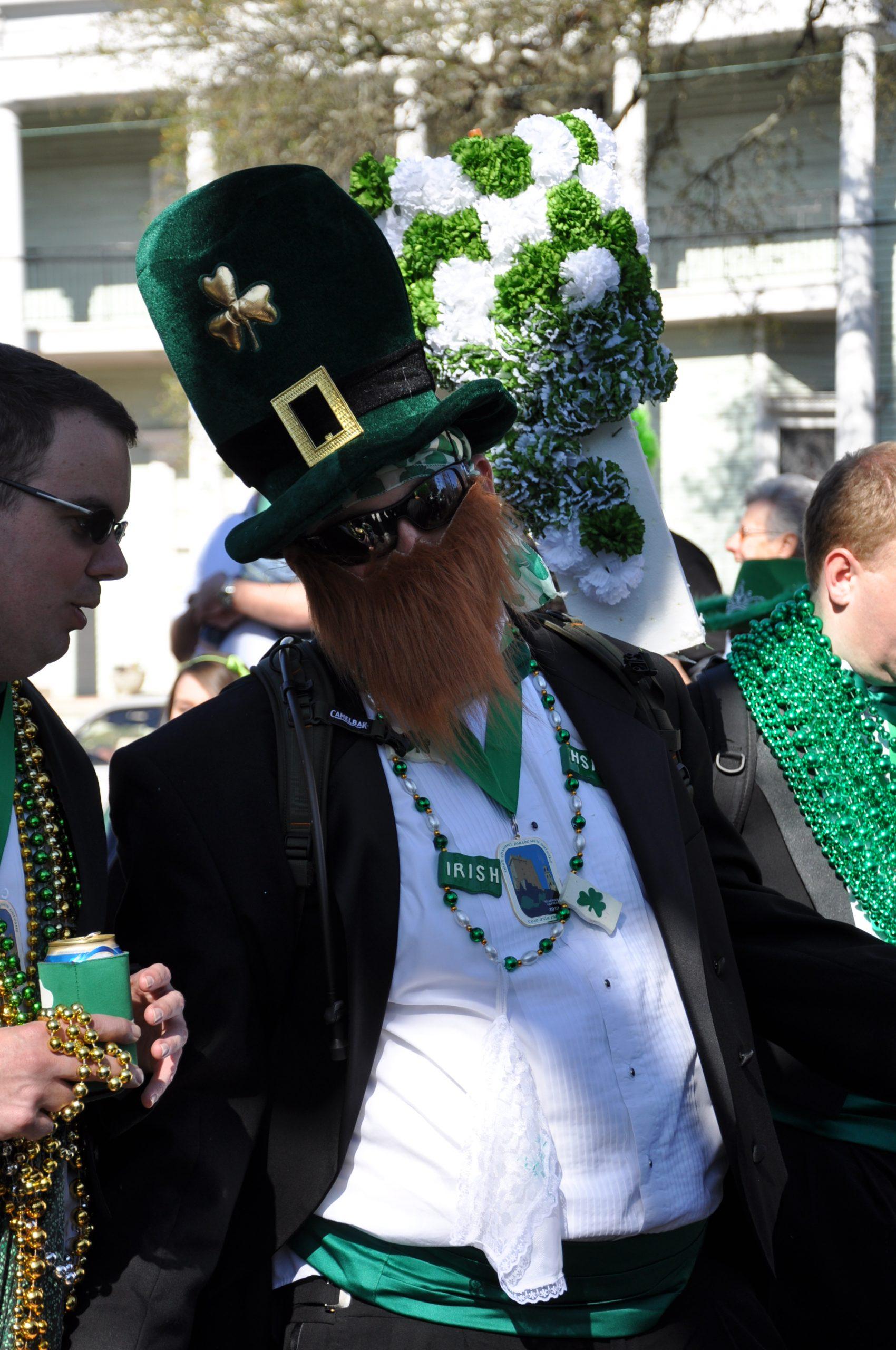 St. Patrick's Day reveler