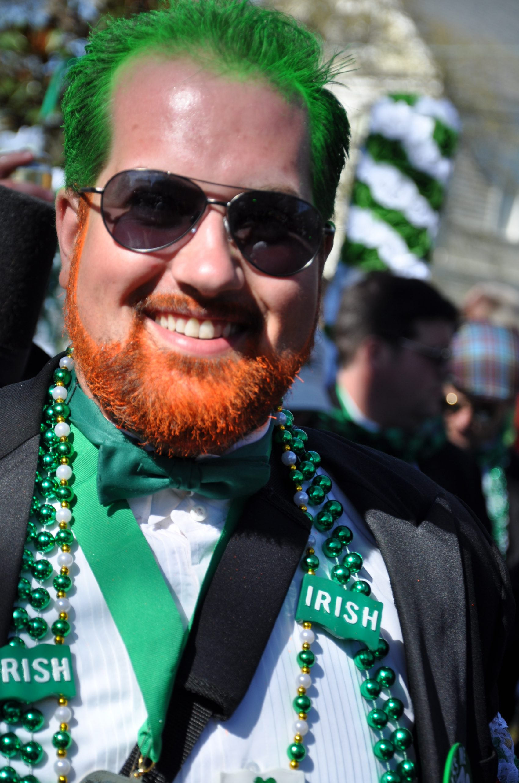 A very happy St. Patrick's Day Reveler. Photo by Sharon Armstrong.