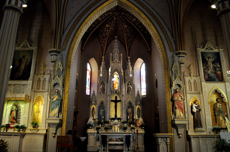 The newly-renovated St. Joseph's Catholic Church on East Commerce Street. Photo by Iris Dimmick.