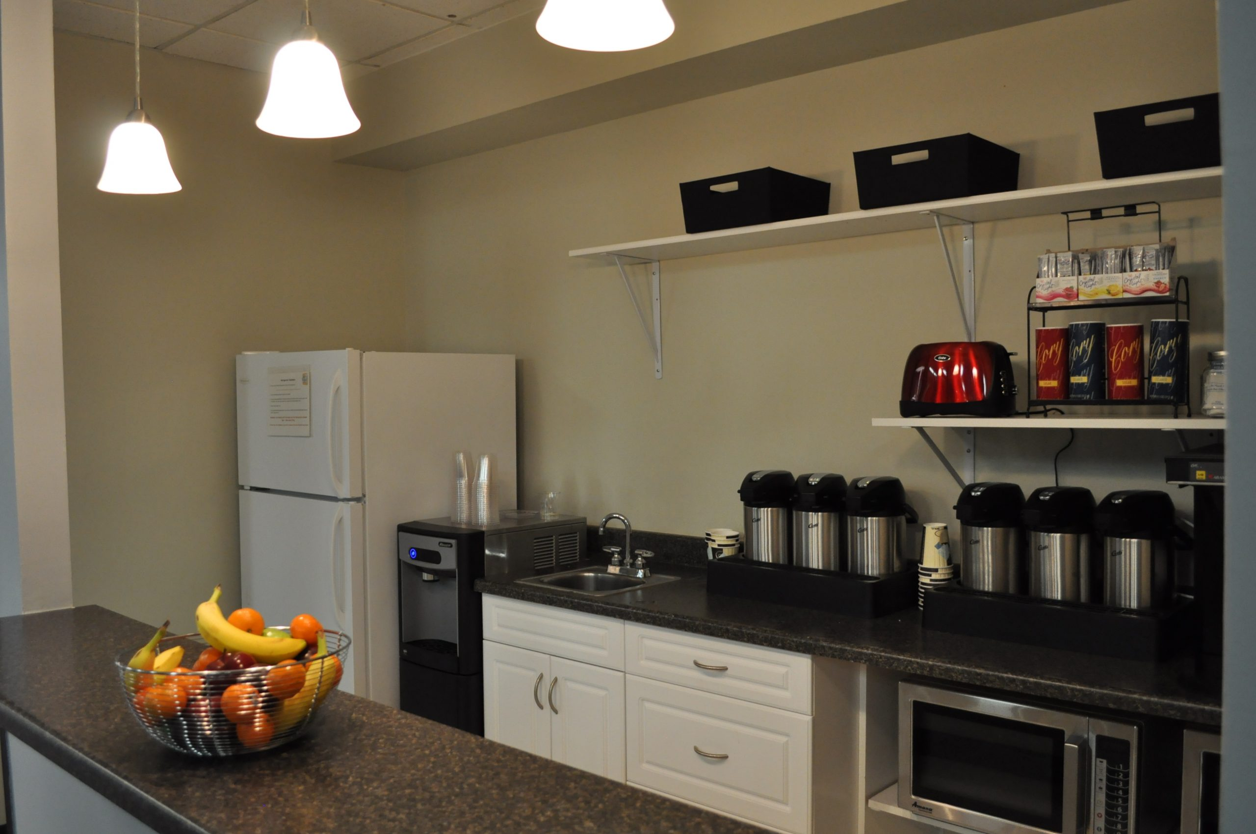 The kitchen facilities at the Open Cloud Academy.
