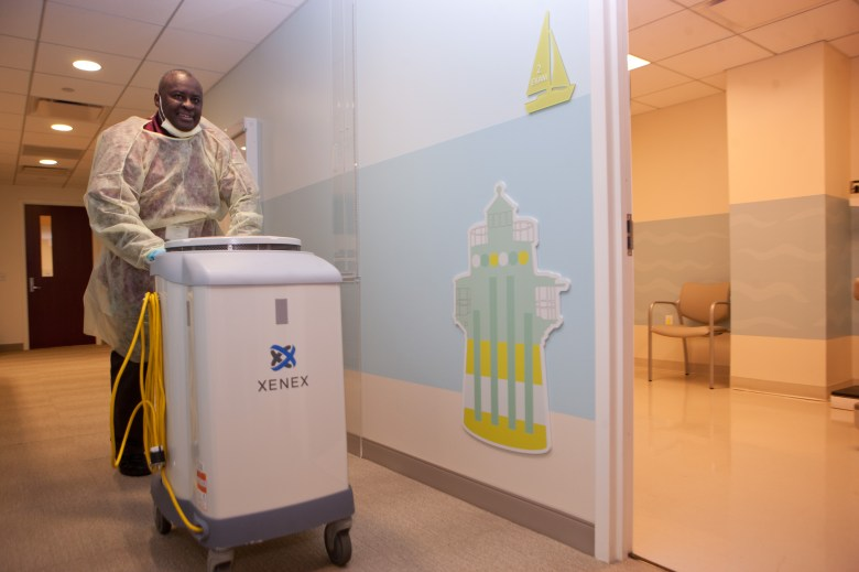 It costs approximately $3 per room to disinfect a room using the Xenex system and the device is operated by a hospital's EVS staff, so it's efficient and easy to use.