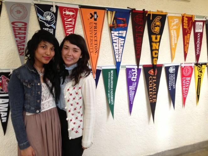 Maritza Alvarez and Nancy Vargas are college bound and loving it.