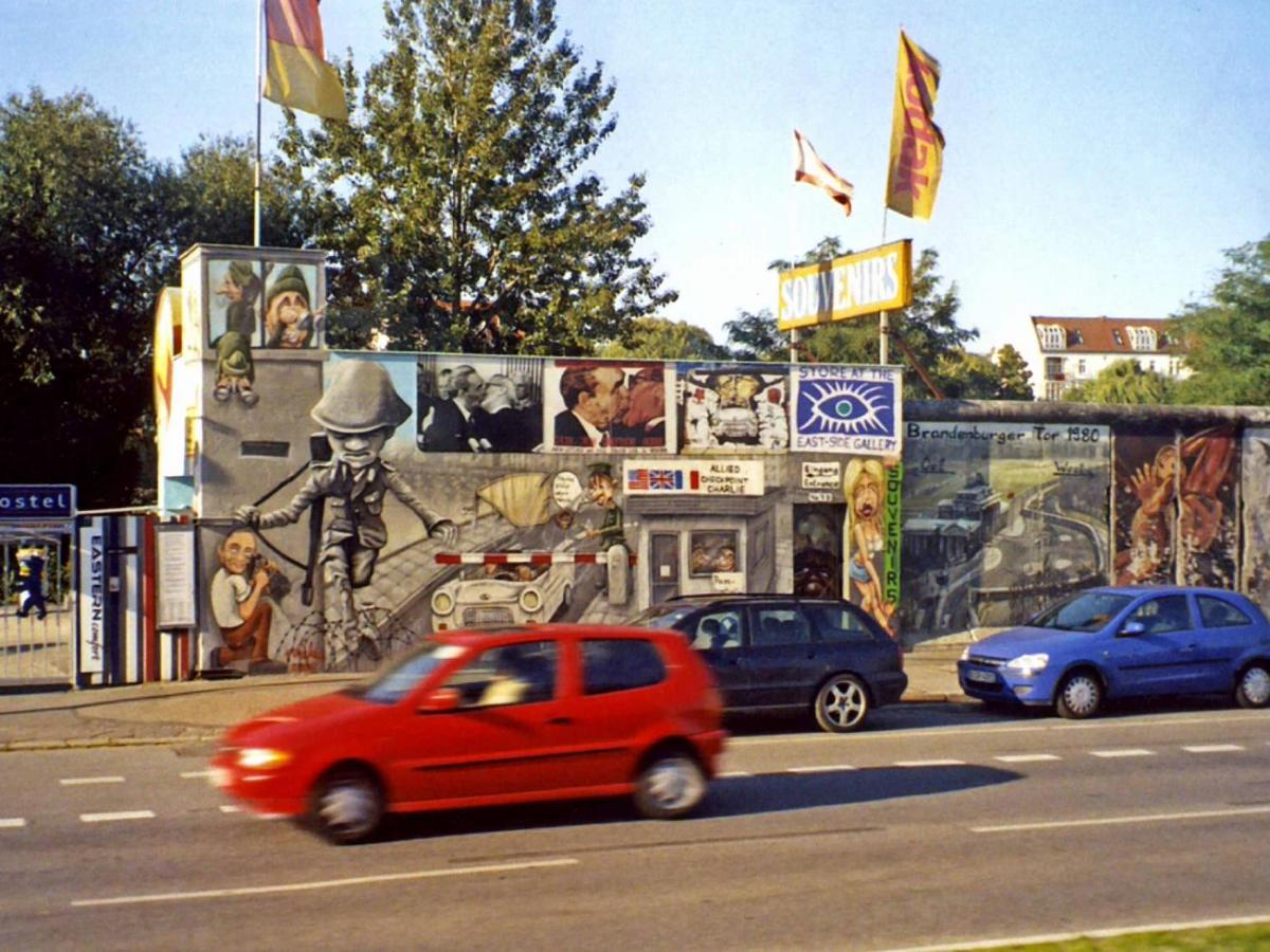 A preserved portion of the Berlin Wall, preserved. Photo via CIA World Factbook.
