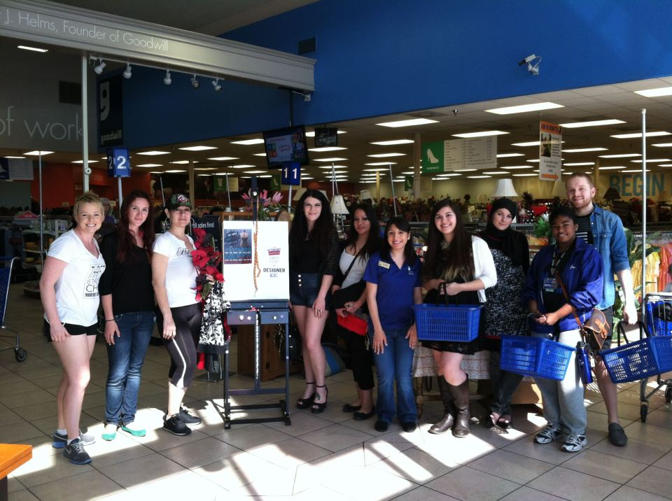 Thrift Off SA contestants and organizers at Goodwill. Photo courtesy of Goodwill San Antonio.