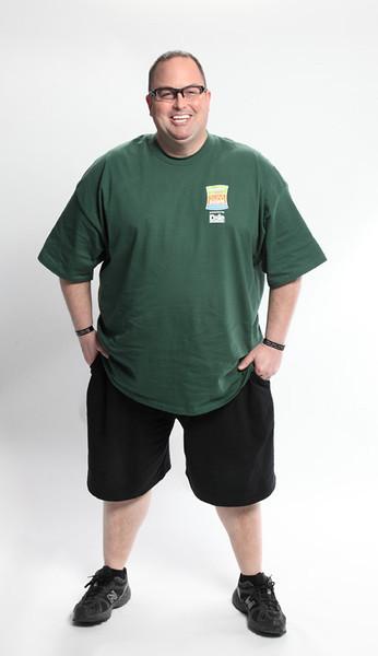 Brad Westmoreland before the 12-week H-E-B Slim Down Showdown training period. Photo courtesy of H-E-B.