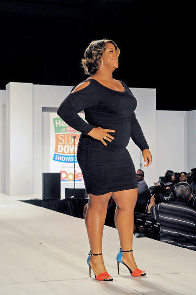 Brittany Ward looking fantastic as she walks the runway during the grand finale. Ward lost 34 pounds in just 12 weeks during the 2013 H-E-B Slim Down Showdown. Photo courtesy of H-E-B.
