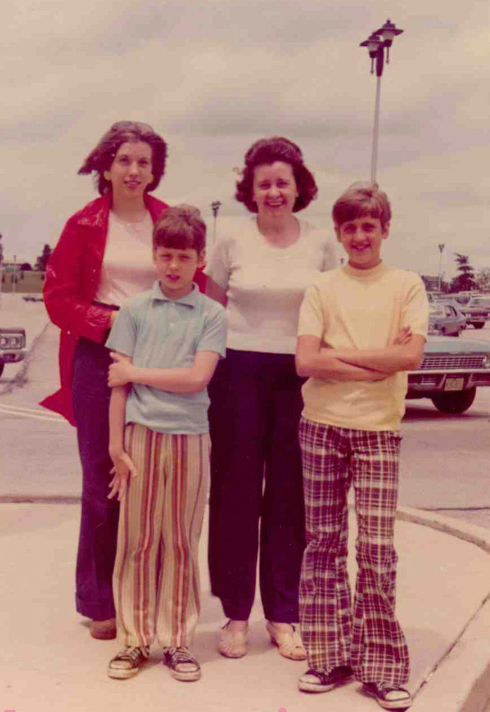 My dad took this photo of me with my mom and two brothers the day I left on my recruiting visit to Incarnate Word College.