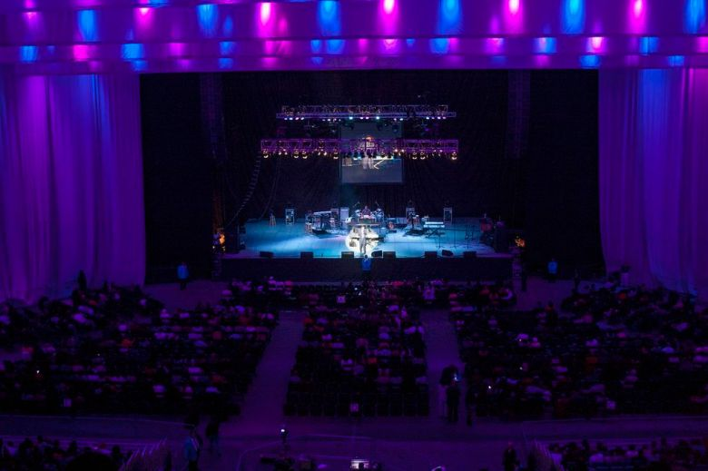 A packed concert at the Alamodome. Photo courtesy of the City of San Antonio.