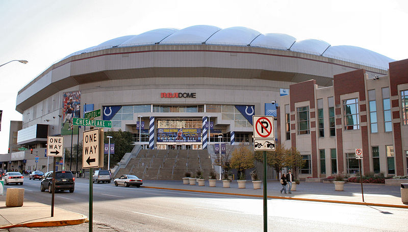 The RCA Dome in Indianapolis. Photo by Derek Jensen, public domain.