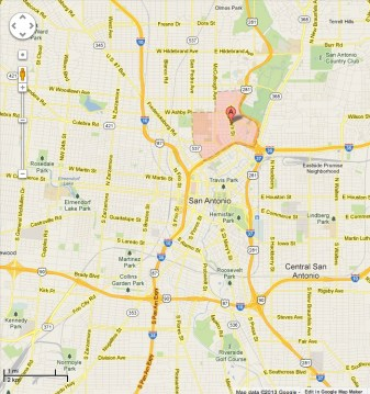 Tobin Hill, San Antonio. Google Maps image.
