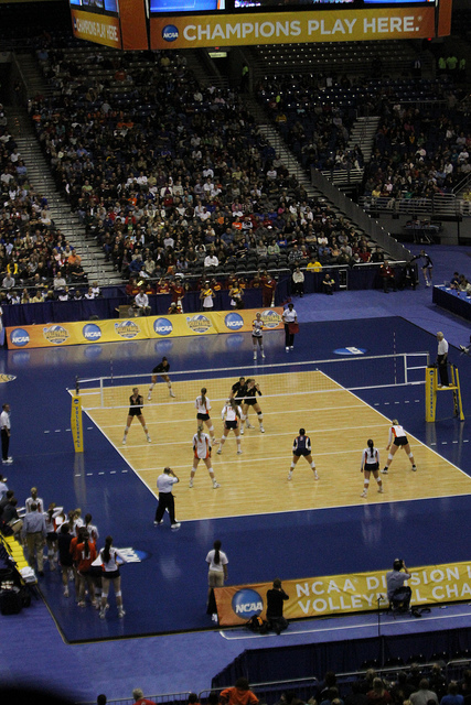 2011 NCAA Volleyball National Semifinals at the Alamodome. Photo courtesy of San Antonio Sports.