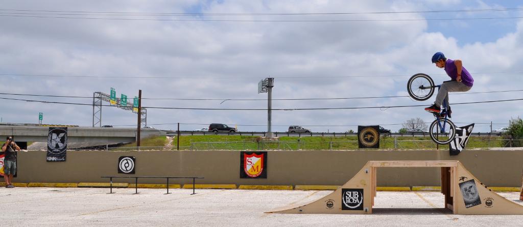 Temporary BMX park for Siclovia 2013. Photo by Iris Dimmick.