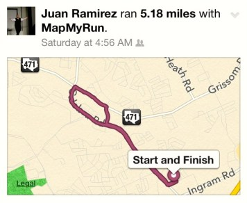 Aside from tracking calories, Ramirez also uses apps to track his workouts as well.