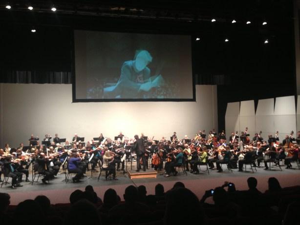Sebastian Lang-Lessing conducts the San Antonio Symphony and Youth Orchestra San Antonio   Photo by Tracy Hamilton