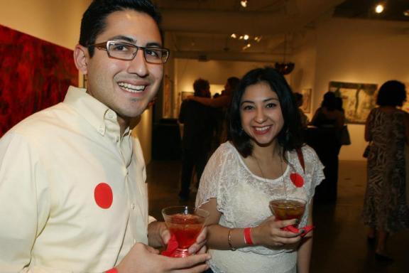 Gilbert De Hoyos and Lauren Tarin enjoying the festivities at the 2012 event.