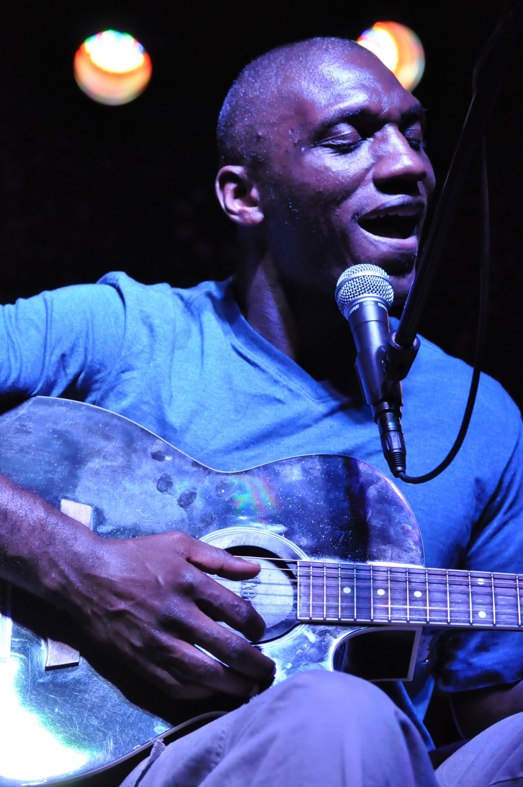 Cedric Burnside is considered blues royalty; he is the grandson of the late Mississippi blues master, R.L. Burnside. Photo by Annette Crawford/Courtesy Sam's Burger Joint.