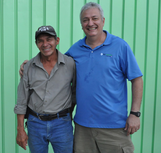 Erasmo Ordenez, the Cool Crest groundskeeper for more than 30 years, stands with Mitchell Andry, one of the four Andry brothers who now own Cool Crest. Photo by Annette Crawford.