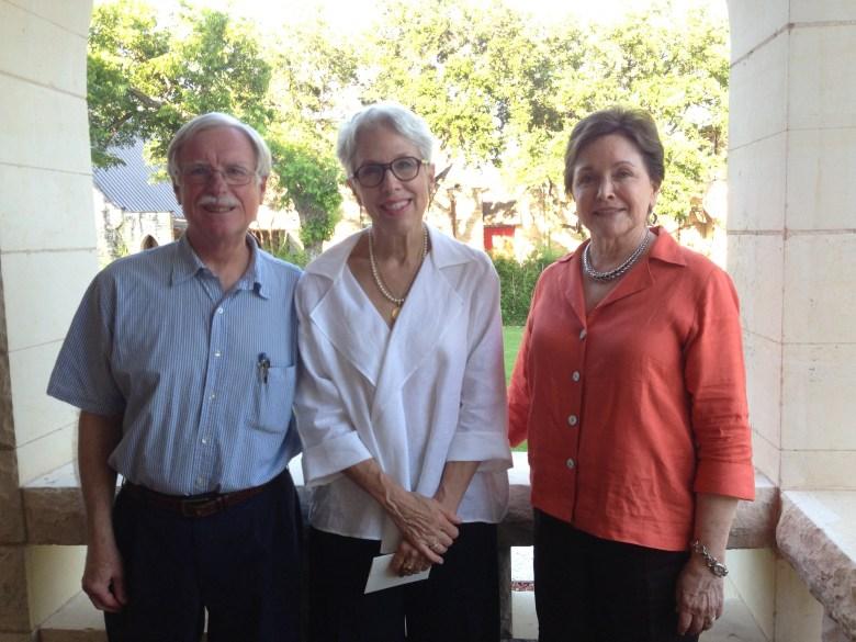 Douglas Earle, Kay Karcher Mijangos, and Kathleen Weir Vale of St. Paul's Montessori. Photo by Bekah McNeel.