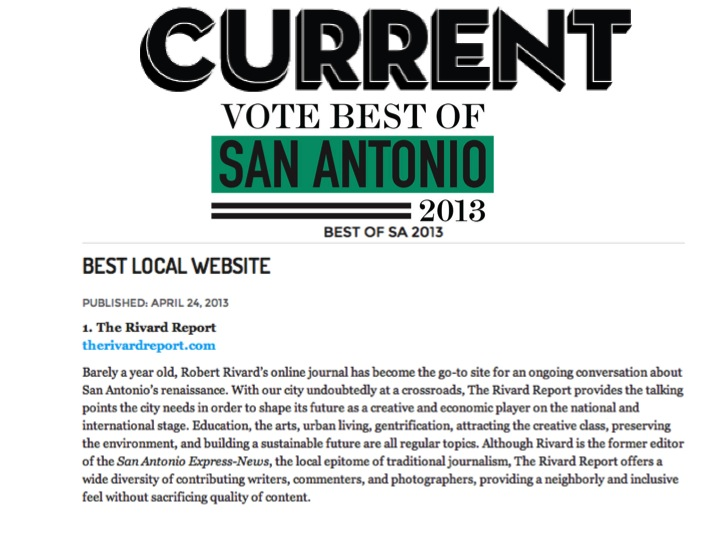 Rivard Report voted best local news website by San Antonio Current Readers in 2013