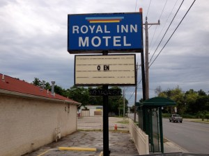 Royal Inn, one of the strip's many unappealing motels.