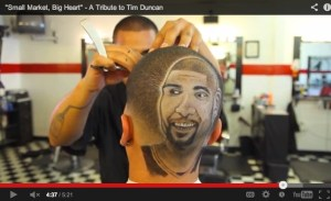 """A screen shot from Jim Mendiola's mini-documentary: """"'Small Market, Big Heart' – A Tribute to Tim Duncan."""""""