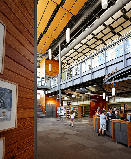 Patrick Heath Public Library in Boerne, TX. Completed in 2011 with a large, screened porch and quiet reading areas. Courtesy Photo.