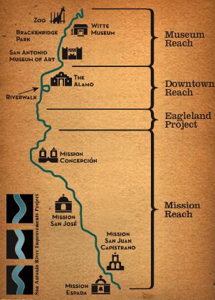 Map courtesy of the San Antonio River Authority.
