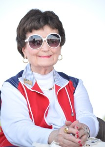 Former Mayor Lila Cockrell stays cool in red, white and blue. Photo by Annette Crawford.